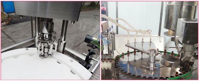 糖浆口服液千亿国际网页版,小瓶药液自动灌装旋盖一体机
